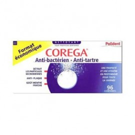 Polident - Corega Anti-bactérien et Anti-tartre - 96 cps