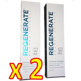 Regenerate - Dentifrice Expert - Usage Quotidien - Lot de 2 Tubes 75 ml