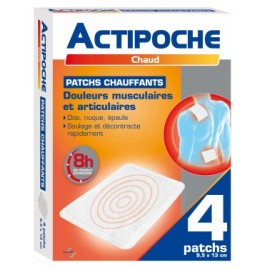 Actipoche - Patch chauffant - 4 Patchs 9.5x13 cm