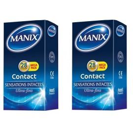 Manix - Contact Préservatifs - Lot de 2 Boites 28 préservatifs MEGA PACK
