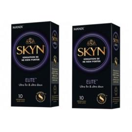 Manix - Skyn Elite Préservatifs - Lot de 2 x 10 préservatifs