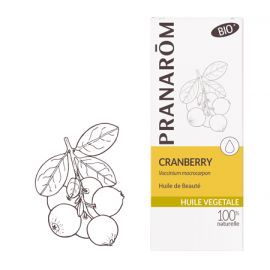 Pranarôm - Huile Végétale Vierge Cranberry Bio - 50 ml