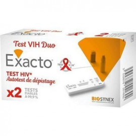 Exacto - Test HIV Duo Autotest de dépistage - 2 tests