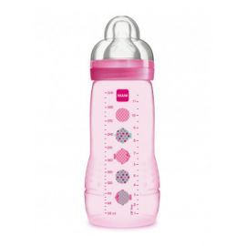MAM - Biberon Easy Active coloré 330 ml Fille tétine X
