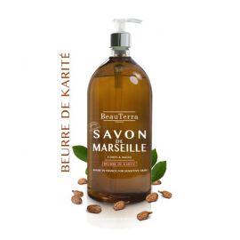 BeauTerra - Savon liquide de Marseille Beurre de karité - 1L