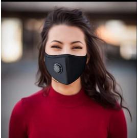 Masque Tissus Adultes Avec Valve - 20 Lavages