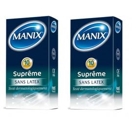 Manix - Suprême Préservatifs sans latex - Lot de 2 Boites de 10 préservatifs