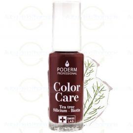 Poderm - Vernis Tea Tree Color Care - Couleur: Rouge Noir - 8 ml