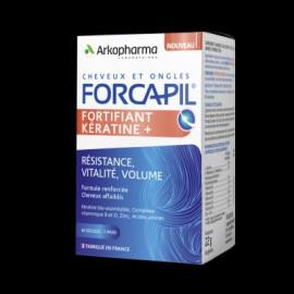 Forcapil - Fortifiant Kératine cheveux et ongles - 120 + 60 gélules
