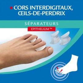 Epitact - Séparateur Orteil Pour cors interdigitaux et oeil de perdrix - 6 Séparateurs Taille S