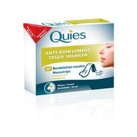 Quies - AntiRonflement BANDELETTES NASALES - boîte de 24 bandelettes