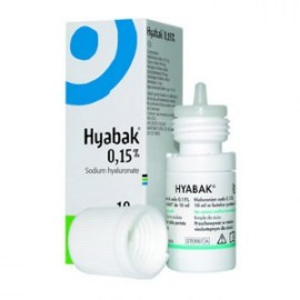 Hyabak - Solution d'Hydratation Oculaire Lubrifiant - Flacon de 10 ml